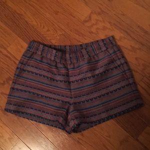 J Crew size 6 elastic waist shorts. Cute print !
